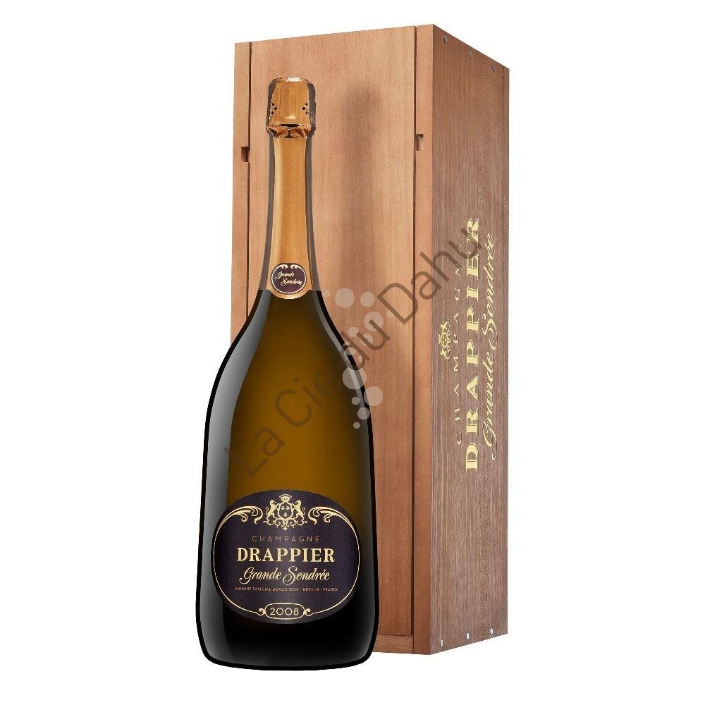 Magnum Champagne Grande Sendrée 2008, coffret bois, Maison Drappier